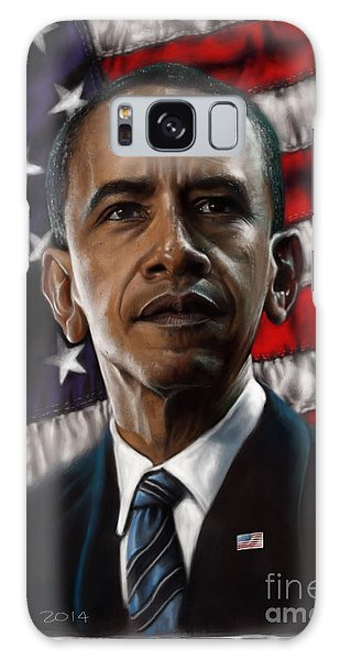 Barack Obama Galaxy Case - Barack Obama by Andre Koekemoer