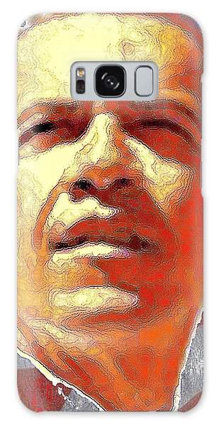 Barack Obama American President - Red White Blue Galaxy Case by Art America Gallery Peter Potter