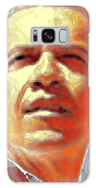Barack Obama American President - Red White Blue Portrait Galaxy Case