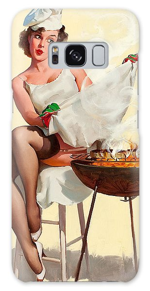 Barbecue Pin-up Girl Galaxy Case by Gil Elvgren