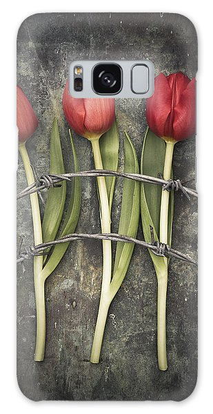 Barbed Wire And Tulip Galaxy Case