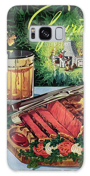 Barbeque Meat And A Mug Of Beer Galaxy Case