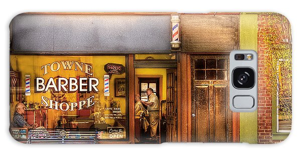 Barber - Towne Barber Shop Galaxy Case by Mike Savad
