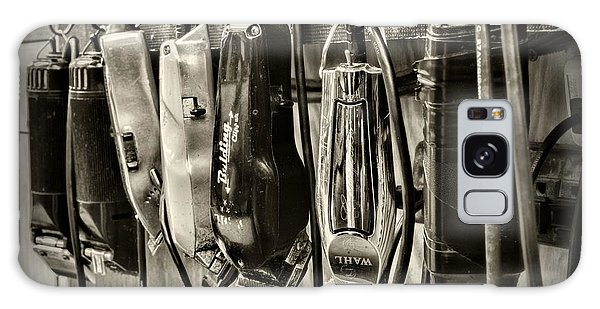 Barbershop Clippers In Black And White Galaxy Case