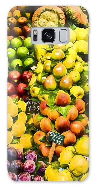 Galaxy Case featuring the photograph Barcelona Market Fruit by Steven Sparks