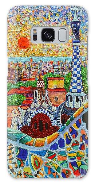 Barcelona Sunrise - Guell Park - Gaudi Tower Galaxy Case