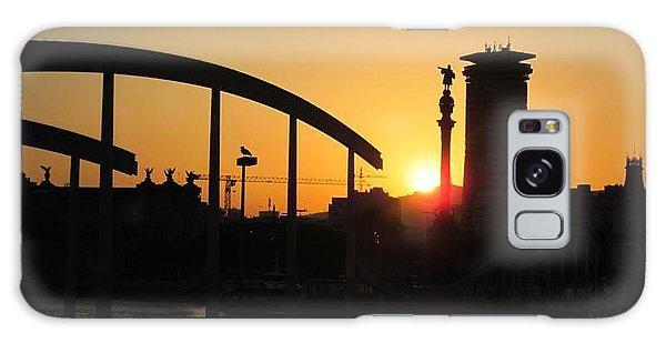 Barcelona Sunset Galaxy Case