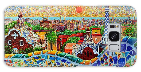 Barcelona View At Sunrise - Park Guell  Of Gaudi Galaxy Case