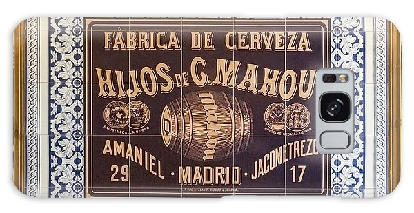 Barcelona Tiled Beer Sign Galaxy Case