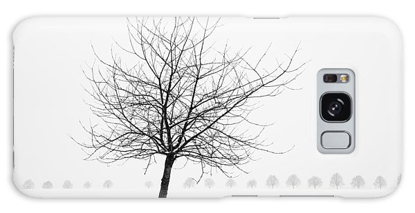 Bare Tree In Winter - Wonderful Black And White Snow Scenery Galaxy Case