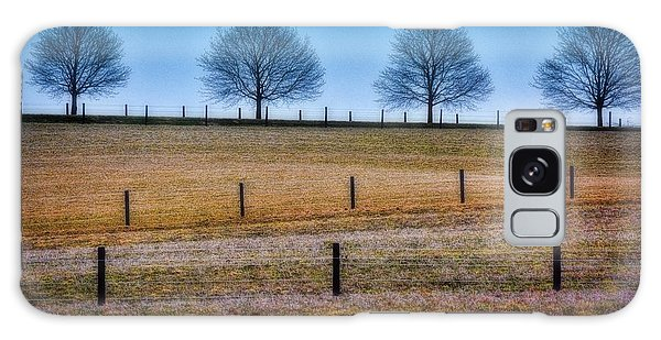 Bare Trees And Fence Posts Galaxy Case