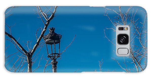 Bare Trees Blue Sky Galaxy Case