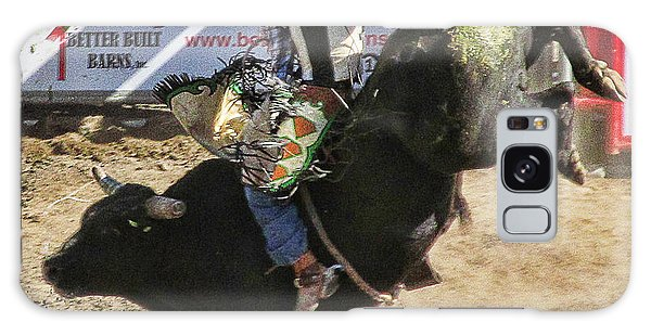 Bareback Bull Riding Galaxy Case