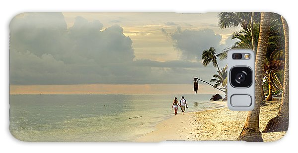 Barefoot On The Beach Galaxy Case