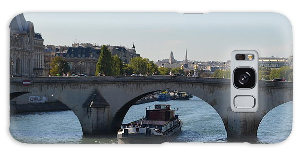 Barge On River Seine Galaxy Case
