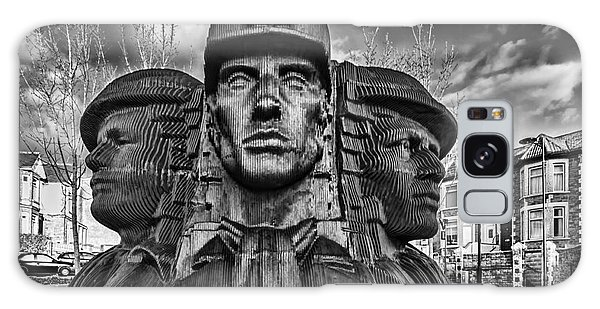 Bargoed Miners 2 Mono Galaxy Case by Steve Purnell