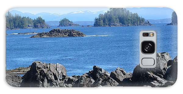 Barkley Sound And The Broken Island Group Ucluelet Bc Galaxy Case