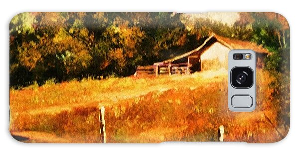 Barn Above The Creekbed Galaxy Case