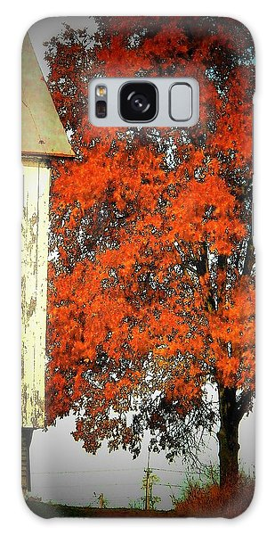 Barn And Autumn Tree Galaxy Case