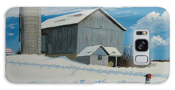 Barn And Pheasant Galaxy Case by Norm Starks