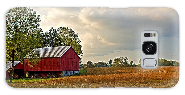 Barn And Sky Galaxy Case