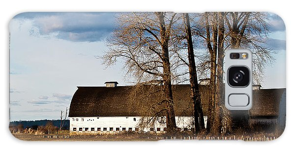 Barn And Trees Galaxy Case