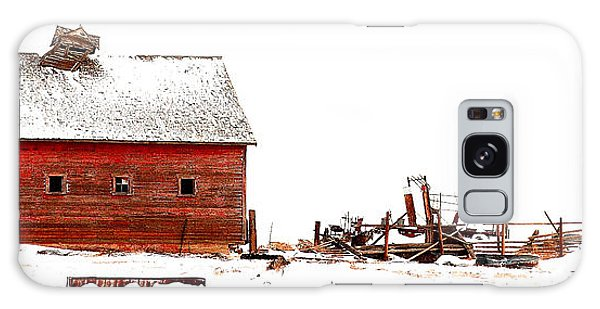 Barn In The Snow Galaxy Case by Steven Reed