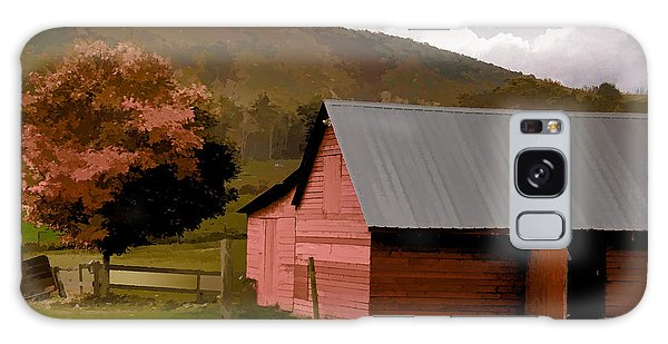 Barn In Vermont Galaxy Case