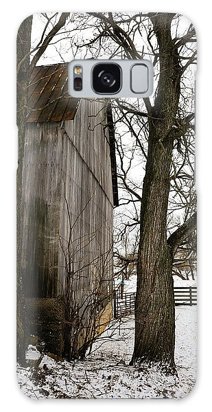 Barn In Winter Galaxy Case