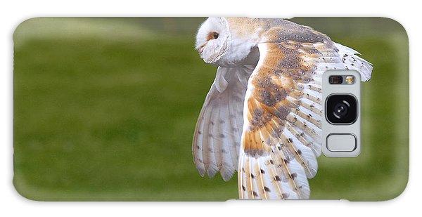 Barn Owl In Flight Galaxy Case by Nick  Biemans