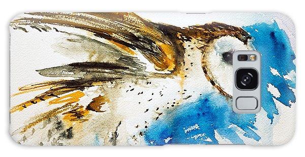 Da145 Barn Owl Ruffled Daniel Adams Galaxy Case