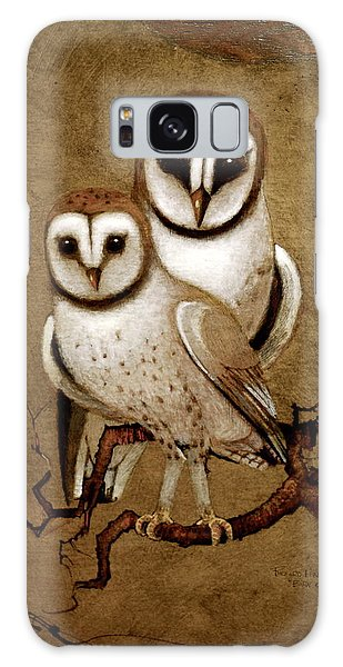 Barn Owls Galaxy Case by Richard Hinger