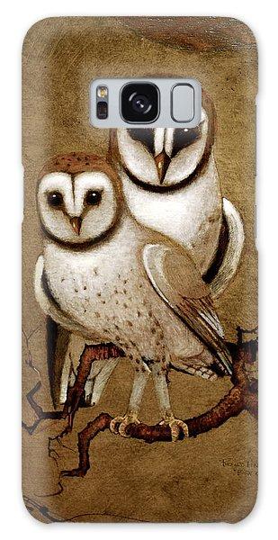 Barn Owls Galaxy Case