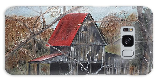 Barn - Red Roof - Autumn Galaxy Case