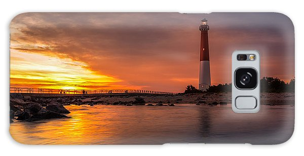 Barnegat Sunset Light Galaxy Case