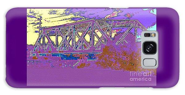 Barnes Ave Erie Canal Bridge Galaxy Case by Peter Gumaer Ogden