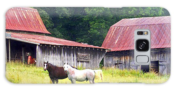Barns And Horses Near Mills River Nc Galaxy Case