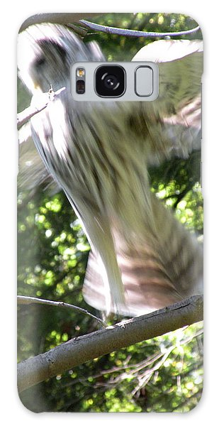 Barred Owl Angelic Liftoff Galaxy Case by Brian Chase