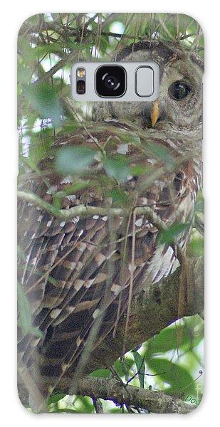 Barred Owl Galaxy Case by Dodie Ulery