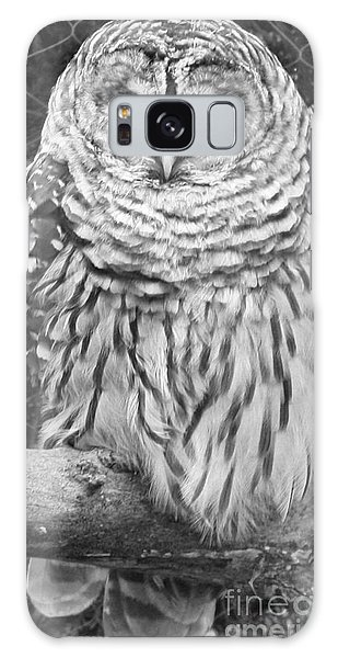 Barred Owl In Black And White Galaxy Case by John Telfer
