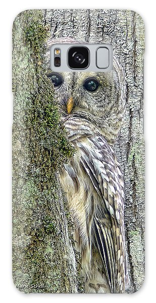 Barred Owl Peek A Boo Galaxy Case