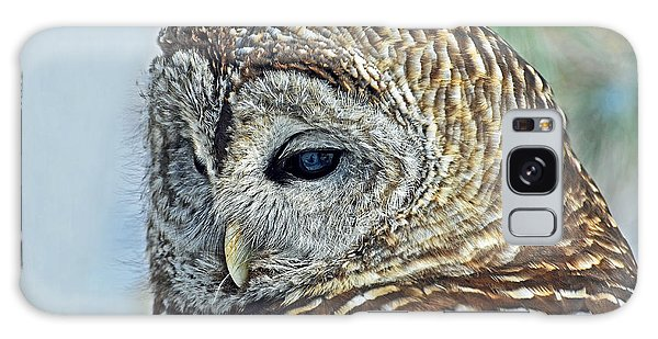Barred Owl Portrait Galaxy Case