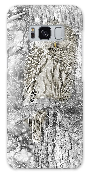 Barred Owl Snowy Day In The Forest Galaxy Case