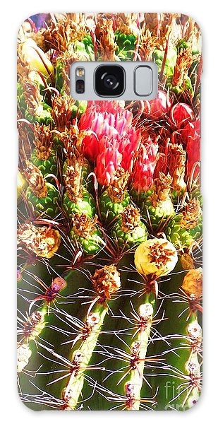 Barrel Cactus Blooms Galaxy Case