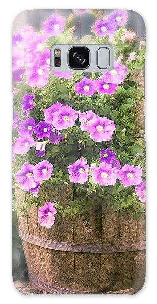 Galaxy Case featuring the photograph Barrel Of Flowers - Floral Arrangements by Gary Heller