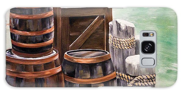 Barrels On The Pier Galaxy Case by Ellen Canfield