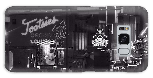Bars On Broadway Nashville Galaxy Case by Dan Sproul