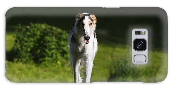 Barzoi Hound Running In A Woolf Like Posture Galaxy Case by Christian Lagereek