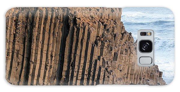 Basalt Galaxy Case - Basalt Columns On Beach by Dr Juerg Alean