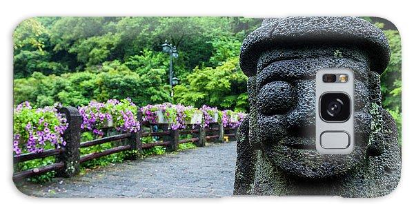 Basalt Galaxy Case - Basalt Statue In Seogwipo, Unesco World by Michael Runkel